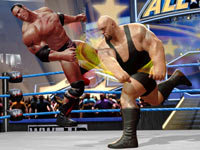 The Rock getting hammered by Big Show in WWE All-Stars