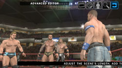 John Cena facing down three guys in the ring in WWE SmackDown vs. Raw 2010