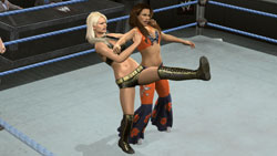 Divas in ao in the ring in WWE SmackDown vs. Raw 2010
