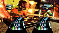 DJ vs. DJ multiplayer mode in DJ Hero