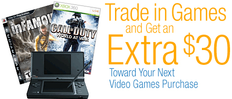 Trade In Games and Get an Extra $30 Off Video Games and Accessories