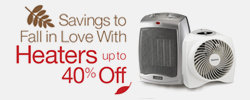 Heaters Up To 40% Off