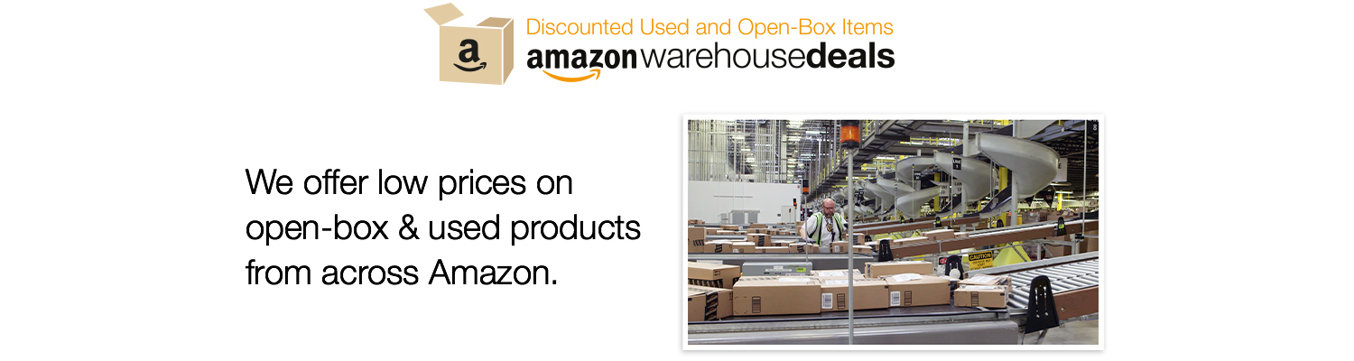Amazon Warehouse Deals - We offer low prices on open-box & used products from across Amazon.