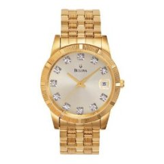 Bulova Men's Diamond-Accented Watch #97F43