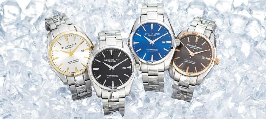 Stuhrling Original Men's Ascot Swiss Quartz Watches