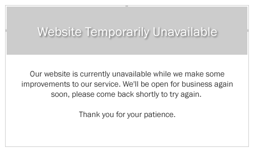 website temporarily unavailable