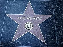 julie andrews star on the hollywood walk of fame