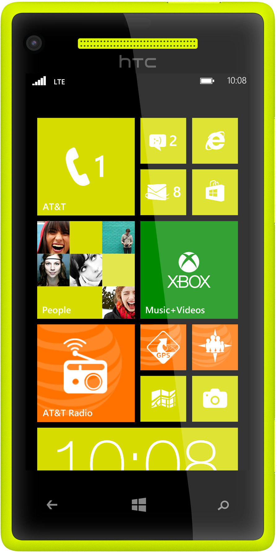 Amazon.com: HTC 8X, Yellow 8GB (AT&T): Cell Phones & Accessories
