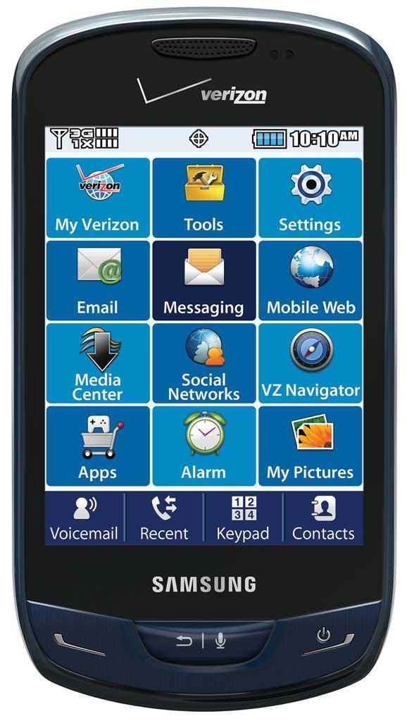 Amazon Com Samsung Brightside Sapphire Blue Verizon