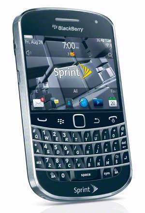 The BlackBerry Bold 9930 with 2.8-inch touchscreen and full QWERTY