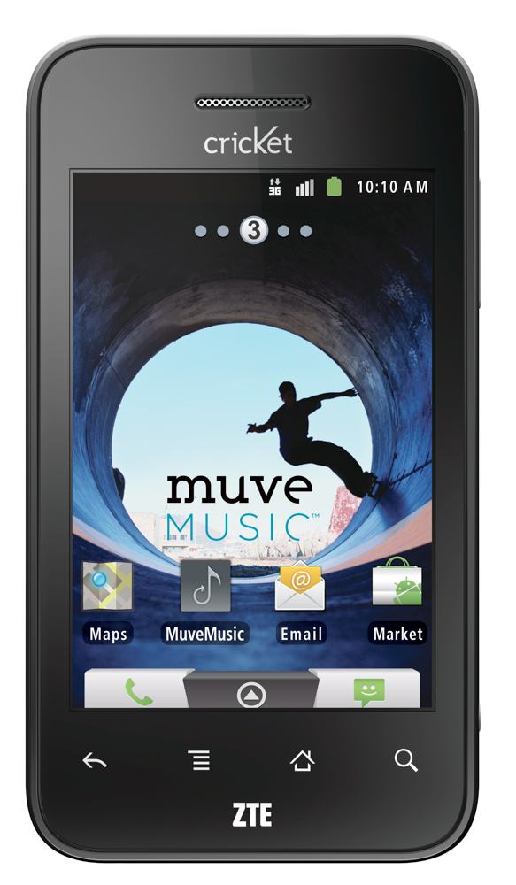 Tune into new music with the ZTE Score and Cricket's Muve Music ( view