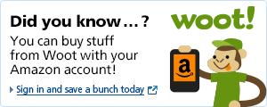 Login and Pay with Amazon at Woot.com!