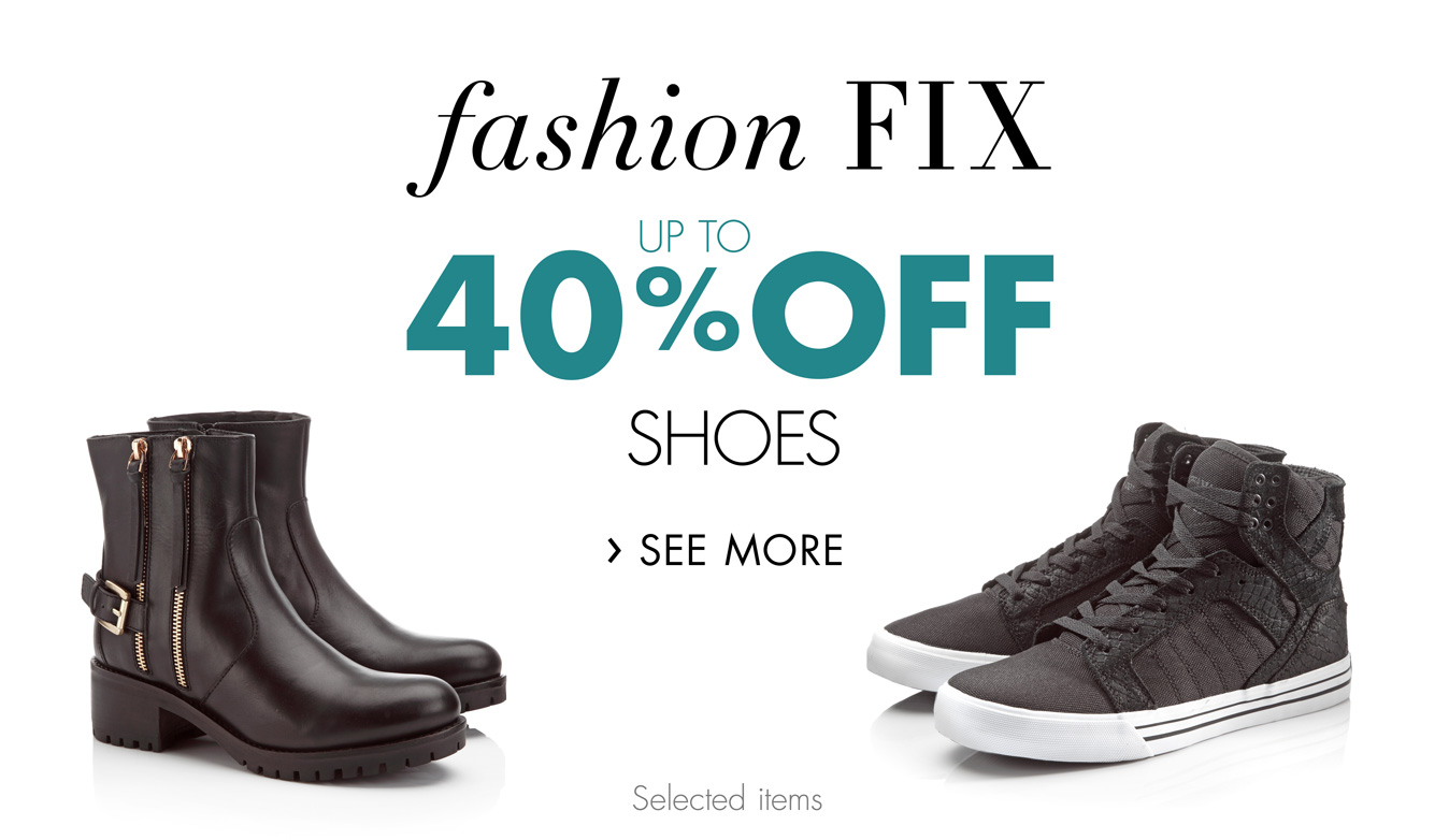 Fashion Fix: Up to 40% Off Shoes