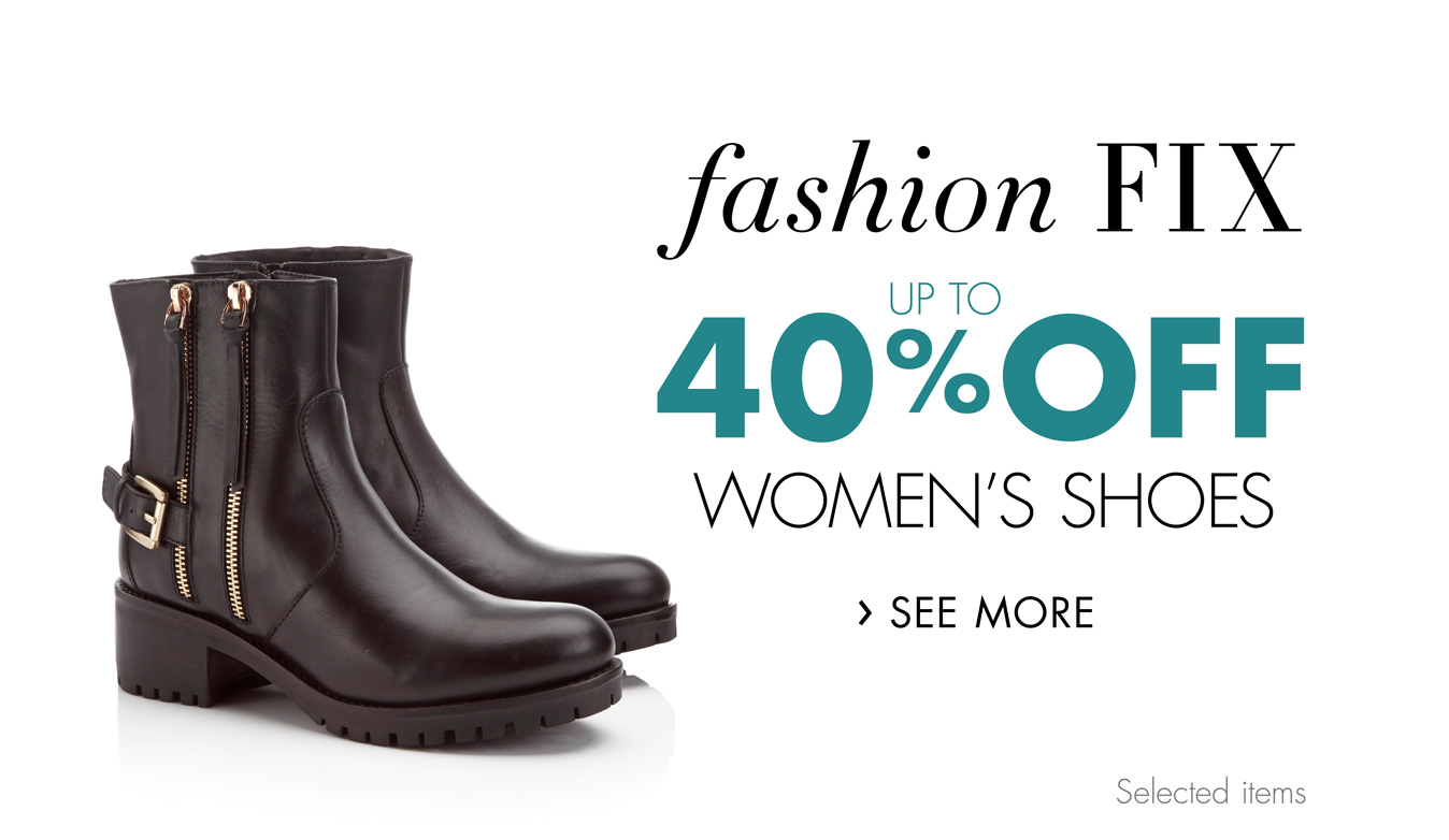 Fashion Fix: Up to 40% Off Women's Shoes