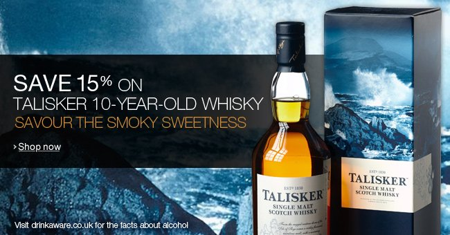 Save 15% on Talisker