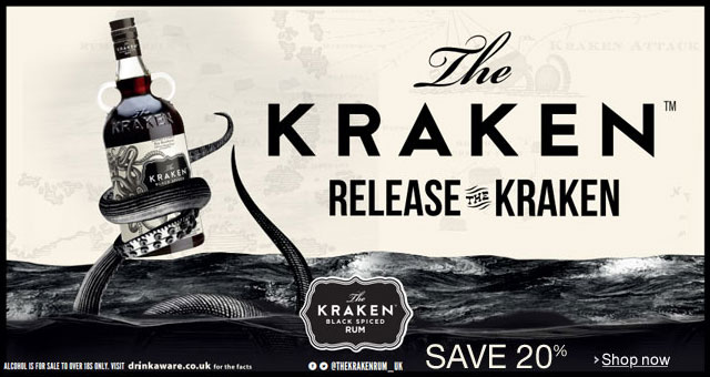 20% Off Kraken Rum