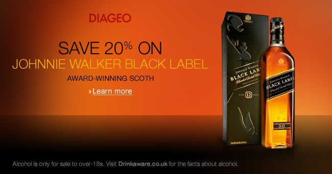 Save 20% on Johnnie Walker Black Label