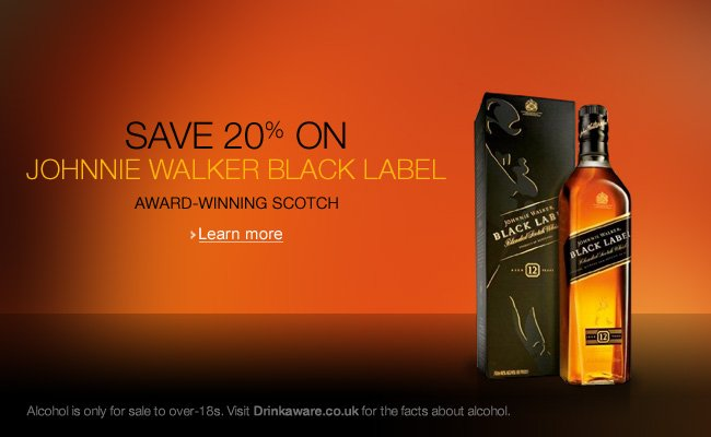 Save 20% on Johnnie Walker Black Label