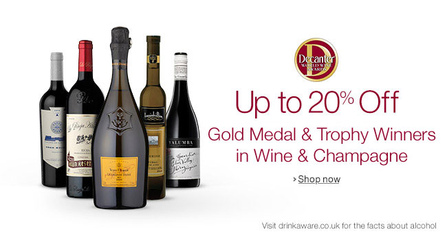 Up to 20% Off Decanter Award Winners