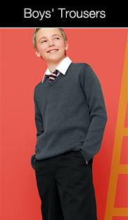 boy with grey blue school sweater jersey wearing tie looking up