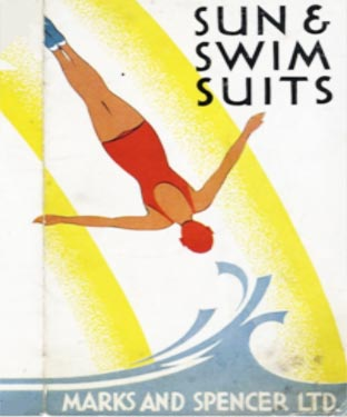 Swimsuits in the 1930s