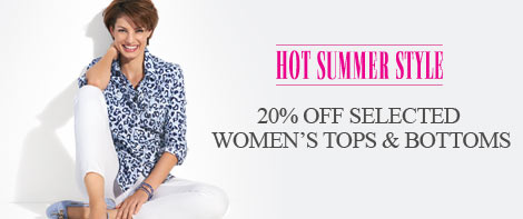 20% off Women's tops & bottoms