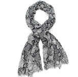 Lightweight Woodblock Floral Scarf £19.50