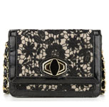 Floral Lace Twist Lock Cross Body Bag £25