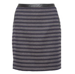 Linear Striped Textured Mini Skirt with Wool £35