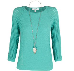 Per Una Pointelle Knitted Top with Necklace £39.50
