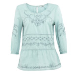 Indigo Collection Pure Cotton Floral Embroidered Top, £29.50