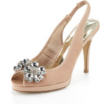 Per Una Peep Toe Diamanté Slingback Shoes with Insolia® £35