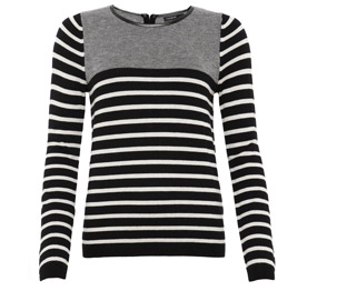Autograph Birdseye & Striped Jumper with Wool £39.50