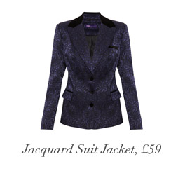 Jacquard Suit Jacket, £59