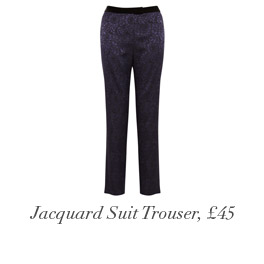 Jacquard Suit Trouser, £45
