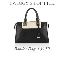 Twiggy's Top Pick Bowler Bag, £39.50