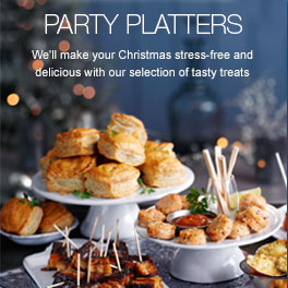 Party Platters - We'll make your Christmas stress-free and delicious with our selection of tasty treats