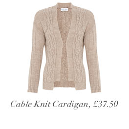 Cable Knit Cardigan, £37.50