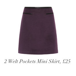 2 Welt Pockets Mini Skirt, £25