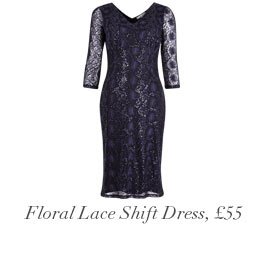 Floral Lace Shift Dress, £55