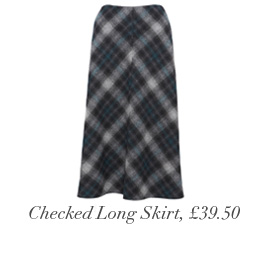 Checked Long Skirt, £39.50