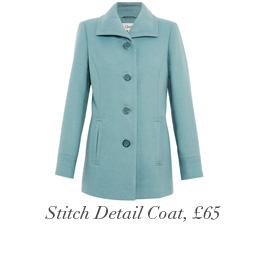Stitch Detail Coat, £65
