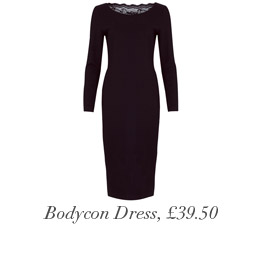 Rear Lace Bodycon Dress, £39.50