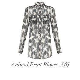 Animal Print Blouse, £65