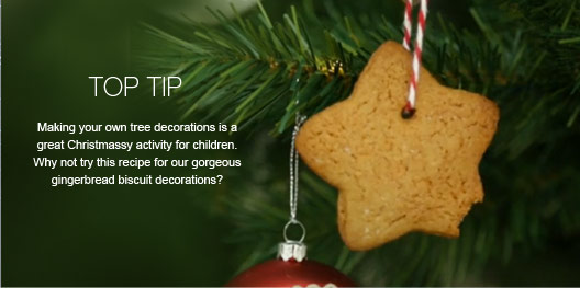 Top Tip - Making your own tree decorations is a great Christmassy activity for children. Why not try this recipe for our gorgeous gingerbread biscuit decorations?