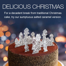 Delicious Christmas - The ultimate indulgence for fussy eaters and chocolate fiends alike, our sumptuous salted caramel Christmas cake is a decadent break from tradition.