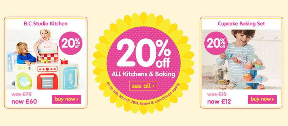20% off All Baking and Kitchens