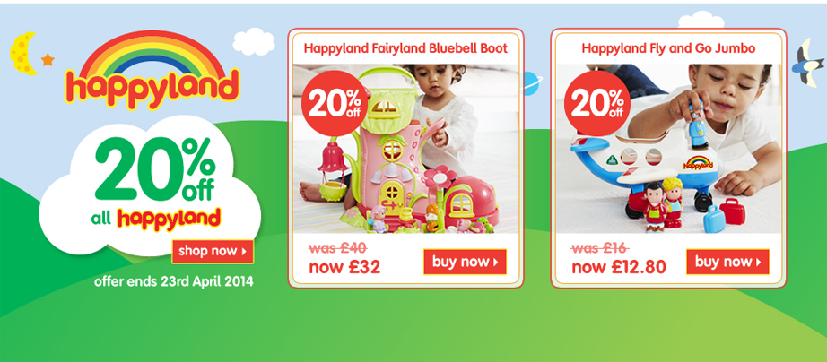 20% off Happyland Toys