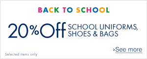 20% off School Uniforms