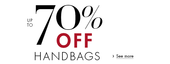 Up to 70% Off Bags